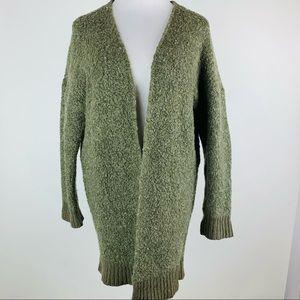 Aerie Green Open Front Cardigan Sweater Medium